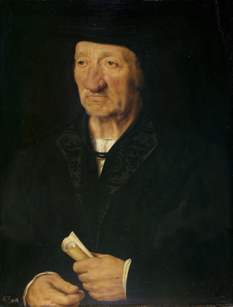 Imagen 9: Joos van Cleve, Retrato de anciano, 1528, Museo del Padro, Madrid