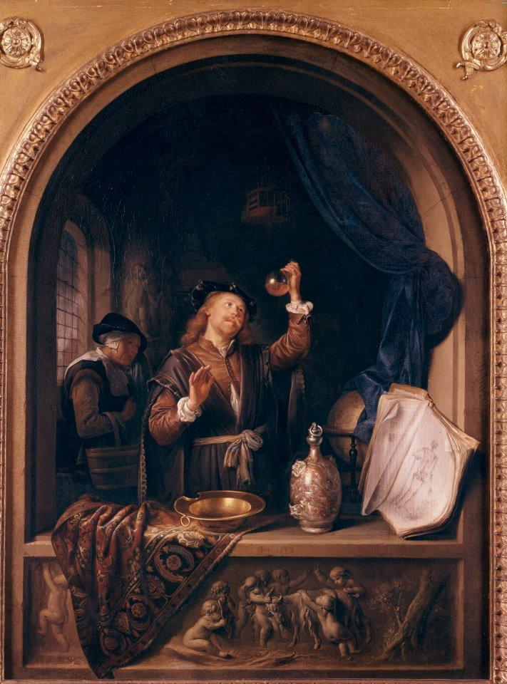 Imagen 2: Guerrit Dou, El médico, 1653, Kunsthistorisches Museum, Viena.
