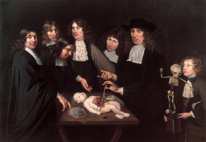 Imagen 5: Johan van Neck, Lección de anatomía de Frederik Ruysch, 1683, Amsterdams Historisch Museum, Ámsterdam