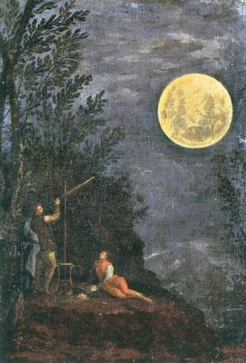 Imagen 10. Donato Creti, Observación astronómica de la Luna, Pinacoteca Vaticana (1711)