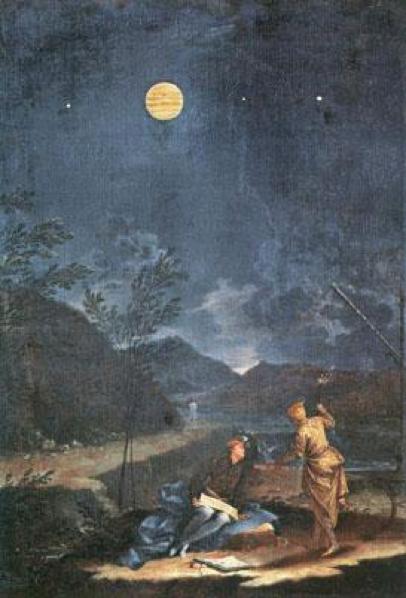 Imagen 12. Donato Creti, Las observaciones astronómicas de Júpiter, Pinacoteca Vaticana (1711)