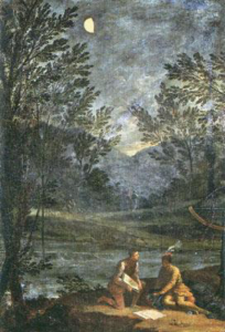 Imagen 13. Donato Creti, Las observaciones astronómicas de Mercurio, Pinacoteca Vaticana (1711)