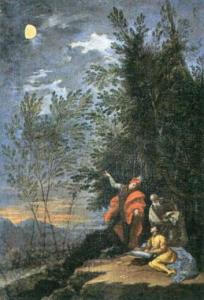 Imagen 14. Donato Creti, Las observaciones astronómicas de Marte, Pinacoteca Vaticana (1711)