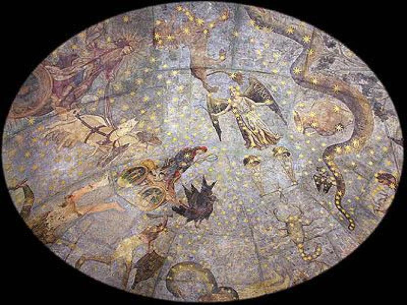 Imagen 2. Fernando Gallego (1440-1507), El cielo de Salamanca. Bóveda de la antigua biblioteca de la Universidad de Salamanca, Museo Universitario en las Escuelas Menores