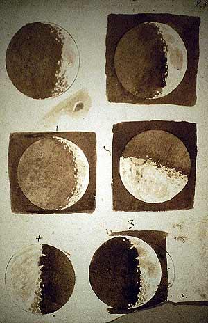 Imagen 9. Estudio de la Luna por Galileo