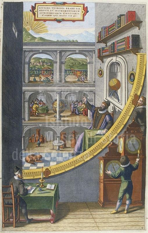 Imagen 7. Jan Blaeu, Tycho Brahe, astrónomo y creador de instrumentos (1662)